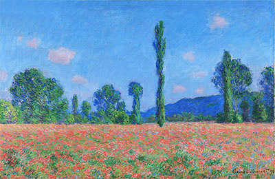 Poppy Field, Giverny, 1891 | Monet | Giclée Canvas Print