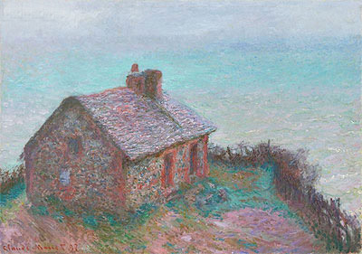 The Customs House at Varengeville, 1897 | Monet | Painting Reproduction
