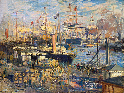 Grand Quai at Havre, 1872 | Monet | Giclée Canvas Print