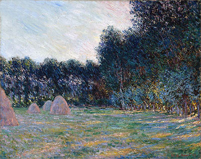 Meadow with Haystacks near Giverny, 1885 | Monet | Giclée Canvas Print