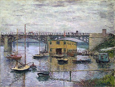 Bridge at Argenteuil on a Gray Day, c.1876 | Monet | Giclée Canvas Print