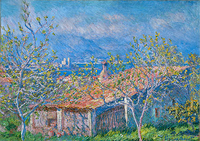 Gardener's House at Antibes, 1888 | Monet | Painting Reproduction