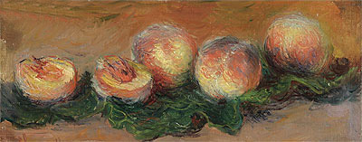 Peaches, 1882 | Monet | Giclée Canvas Print