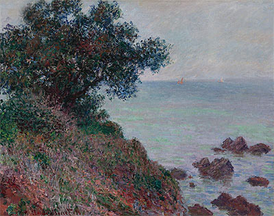 Coasts of the Mediterranean, Time Gray, 1888 | Monet | Giclée Canvas Print