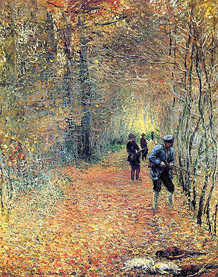 The Hunt, 1876 | Monet | Giclée Canvas Print