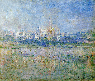Vetheuil in the Mist, 1879   Monet   Painting Reproduction