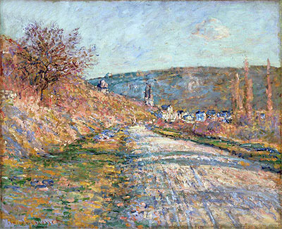 The Road to Vetheuil, 1879 | Monet | Giclée Canvas Print