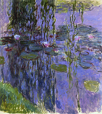 Willow Fronds and Water Lilies, c.1914/17 | Monet | Giclée Canvas Print