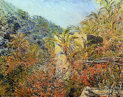Vallee de Sasso, Sunshine, 1884 | Monet | Painting Reproduction