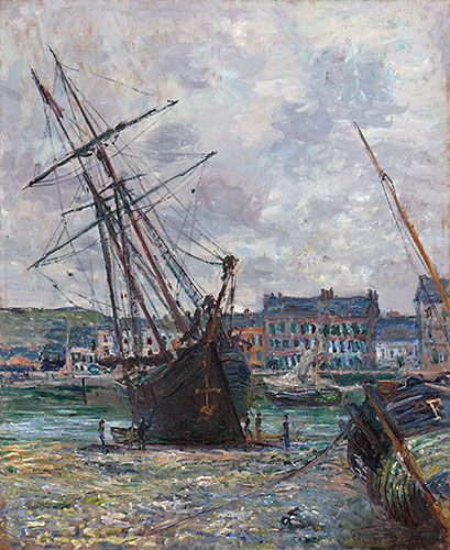 Boats Lying at Low Tide at Fecamp, 1881 | Monet | Giclée Canvas Print