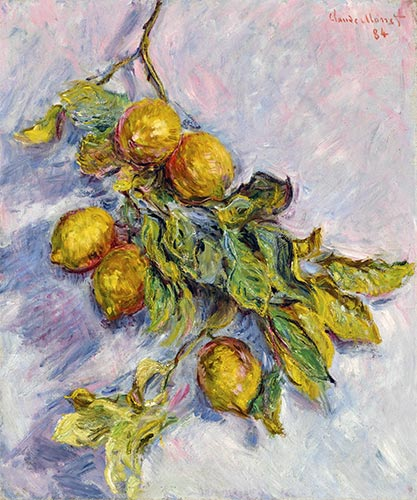 Lemons on a Branch, 1884 | Monet | Giclée Canvas Print