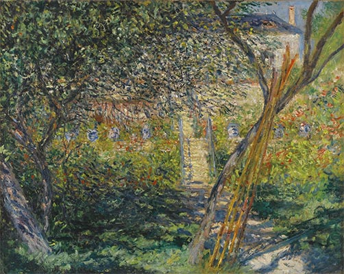 The Garden of Vétheuil, 1881 | Monet | Giclée Canvas Print