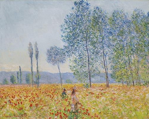 Under the Poplars, 1887 | Monet | Giclée Canvas Print