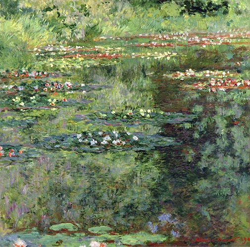 The Waterlily Pond, 1904 | Monet | Painting Reproduction