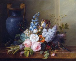 Cornelis van Spaendonck | Flower Bunch with a Bird Nest, 1810 | Giclée Canvas Print