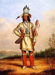 Cornelius Krieghoff | Chief Tanaghte, Delegate to Lord Elgin at Montreal, c.1849 | Giclée Canvas Print