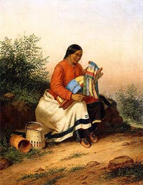 Cornelius Krieghoff | Caughnawaga Woman and Baby, c.1849 | Giclée Canvas Print