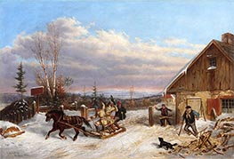 Cornelius Krieghoff | Running the Toll Gate | Giclée Canvas Print