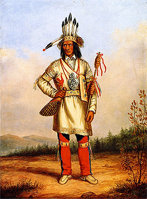Chief Tanaghte, Delegate to Lord Elgin at Montreal, c.1849 | Cornelius Krieghoff | Giclée Canvas Print