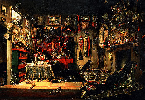 An Officer's Room in Montreal, 1846 | Cornelius Krieghoff | Painting Reproduction
