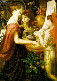 Rossetti | The Beautiful Hand (La Bella Mano) | Giclée Canvas Print