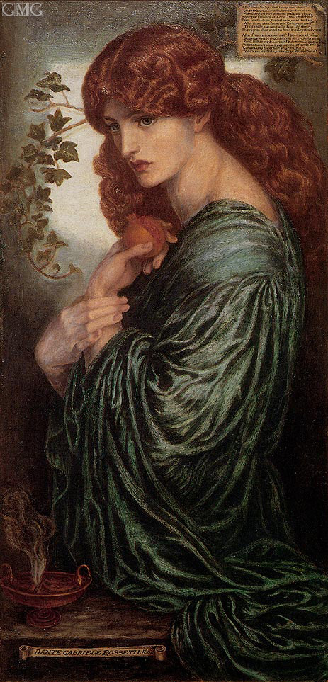 Proserpine, c.1881/82   Rossetti   Painting Reproduction