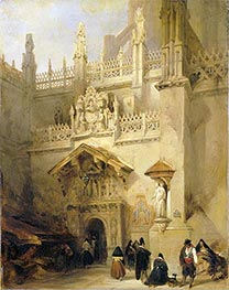 David Roberts | Granada: the Chapel of Ferdinand and Isabella, 1838 | Giclée Canvas Print