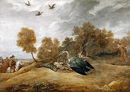 David Teniers   Archduke Leopold Wilhelm Hunting Herons with Falcons, undated   Giclée Canvas Print