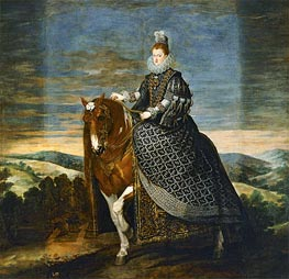 Velazquez | Queen Margarita de Austria on Horseback | Giclée Canvas Print