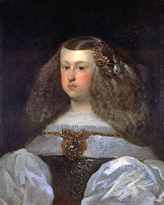 Dona Mariana of Austria, Queen of Spain, 1649 | Velazquez | Giclée Canvas Print