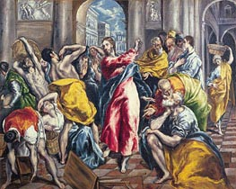 El Greco | The Purification of the Temple, c.1600 by | Giclée Canvas Print