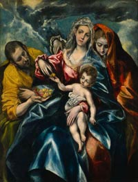El Greco | The Holy Family with Mary Magdalen, c.1590/95 | Giclée Canvas Print