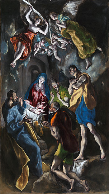 Adoration of the Shepherds, c.1612/14 | El Greco | Painting Reproduction