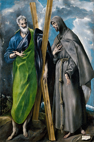 Saint Andrew and Saint Francis, c.1595 | El Greco | Giclée Canvas Print