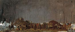 Eastman Johnson | The Maple Sugar Camp - Turning Off, c.1865/73 | Giclée Canvas Print