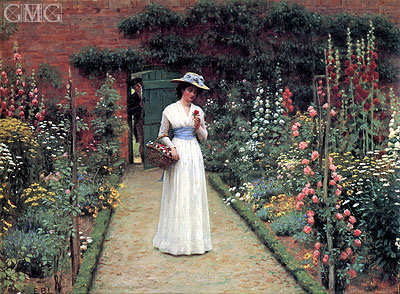 Lady in a Garden, undated | Blair Leighton | Giclée Canvas Print