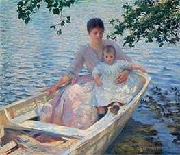 Edmund Charles Tarbell | Mother and Child in a Boat, 1892 | Giclée Canvas Print