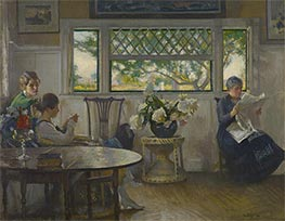 Edmund Charles Tarbell | Mother, Mercie, and Mary, 1918 | Giclée Canvas Print
