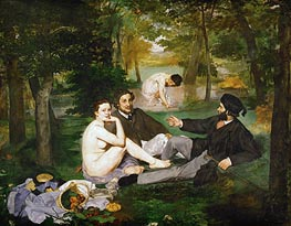 Manet | The Lunch on the Grass, 1863 by | Giclée Canvas Print