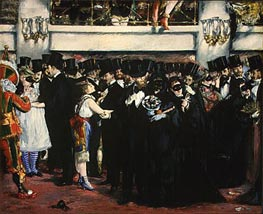 Manet | Masked Ball at the Opera | Giclée Canvas Print