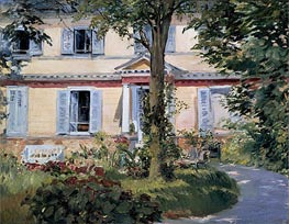 Manet | The House at Rueil | Giclée Canvas Print