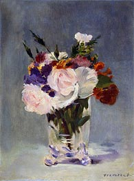 Manet | Flowers in a Chrystal Vase | Giclée Canvas Print