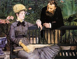 Manet | In the Conservatory | Giclée Canvas Print