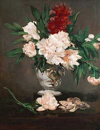 Manet | Peonies in a Vase on a Stand | Giclée Canvas Print
