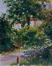 Manet | A Corner of the Garden in Rueil | Giclée Canvas Print