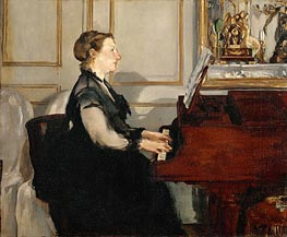 Manet | Madame Manet at the Piano | Giclée Canvas Print