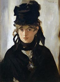 Manet | Berthe Morisot with a Bouquet of Violets | Giclée Canvas Print