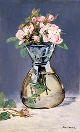 Manet | Moss Roses in a Vase | Giclée Canvas Print