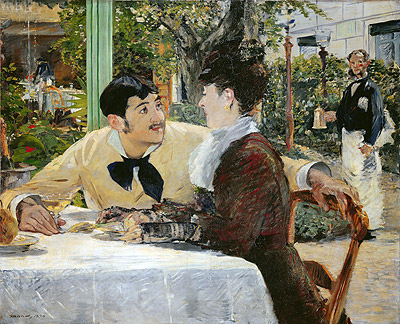 The Garden of Pere Lathuille, 1879 | Manet | Giclée Canvas Print