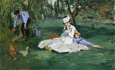 Manet | The Monet Family in Their Garden at Argenteuil, 1874 | Giclée Canvas Print